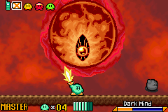 Kirby & the Amazing Mirror - FLAMING EYE OF MORDOR!!! - User Screenshot